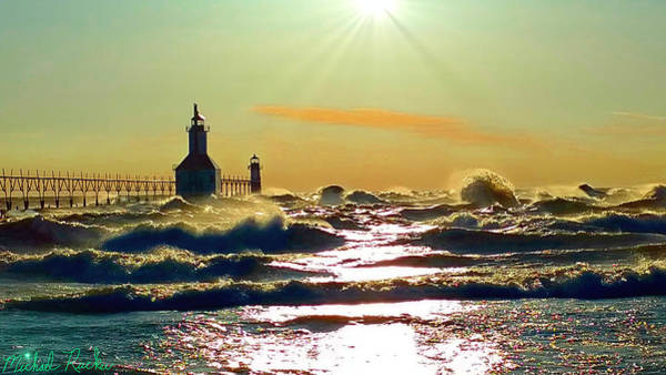 Ocean Wall Art - Photograph - St Joseph Lighthouses by Michael Rucker