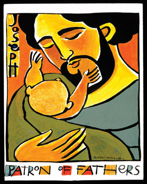 Painting - St. Joseph, Patron Of Fathers - Mmpof by Br Mickey McGrath OSFS