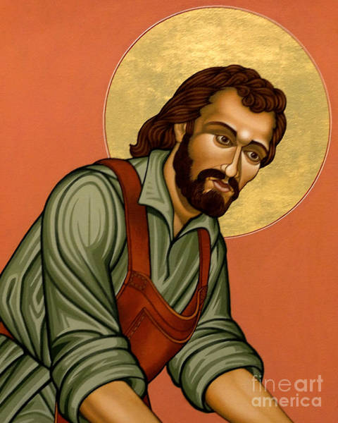 Painting - St. Joseph The Worker - Lwjph by Lewis Williams OFS