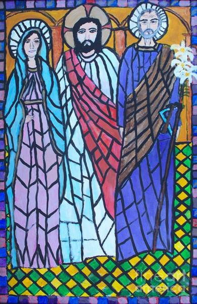 Leaded Glass Painting - St. Joseph's Last Stroll by Seaux-N-Seau Soileau