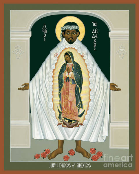 Painting - St. Juan Diego And The Miracle Of Guadalupe - Rljdm by Br Robert Lentz OFM