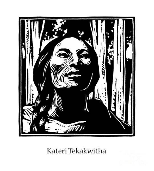 Painting - St. Kateri Tekakwitha - Jlkte by Julie Lonneman