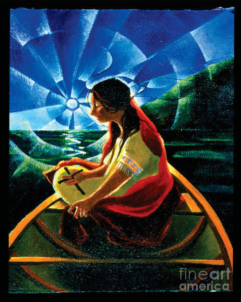 Painting - St. Kateri Tekakwitha - Mmkat by Br Mickey McGrath OSFS
