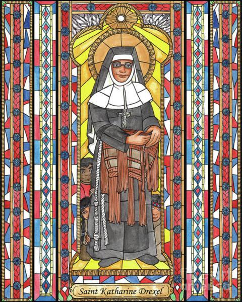 Painting - St. Katharine Drexel by Brenda Nippert