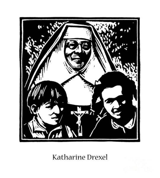 Painting - St. Katharine Drexel - Jldre by Julie Lonneman