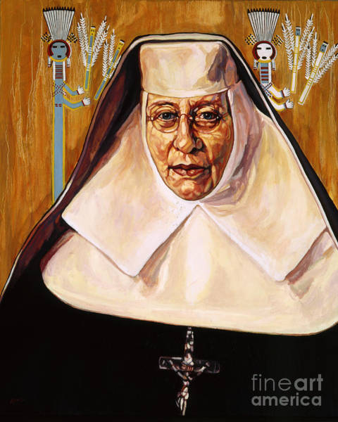 Painting - St. Katharine Drexel - Lwkde by Lewis Williams OFS