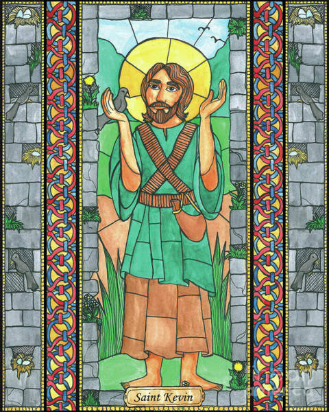 Painting - St. Kevin by Brenda Nippert
