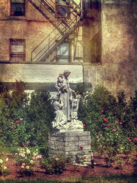 Photograph - St. Leonard's Church Peace Garden - Boston by Joann Vitali
