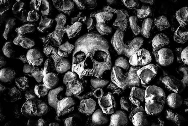 Charnel Photograph - St Leonards Ossuary 1 A Darkly Gothic Fine Art Photographic Print  by Lee Thornberry