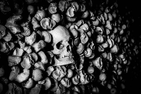 Charnel Photograph - St Leonards Ossuary 2. A Darkly Gothic Fine Art Photographic Print by Lee Thornberry