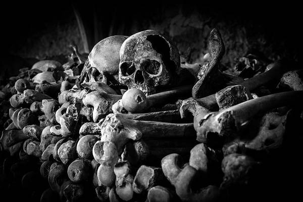 Charnel Photograph - St Leonards Ossuary 4. A Darkly Gothic Fine Art Photographic Print by Lee Thornberry