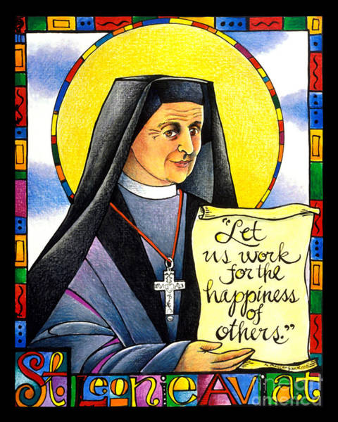 Painting - St. Leonie Aviat - Mmlea by Br Mickey McGrath OSFS