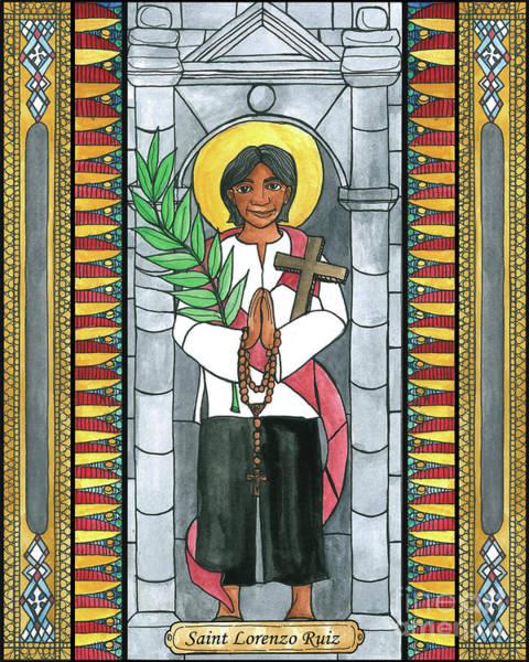 Painting - St. Lorenzo Ruiz by Brenda Nippert