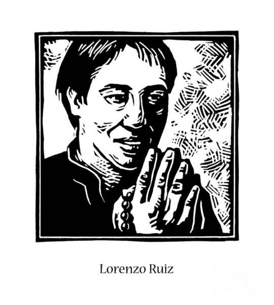 Painting - St. Lorenzo Ruiz - Jllrr by Julie Lonneman