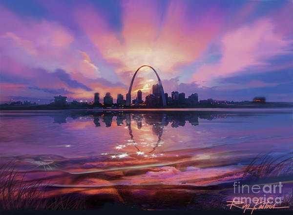 St Louis Arch Painting - St. Louis - Blues And A Whole Lot More by Rip Kastaris