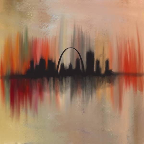 Gateway Arch Painting - St Louis Breakdown by Jen Gray