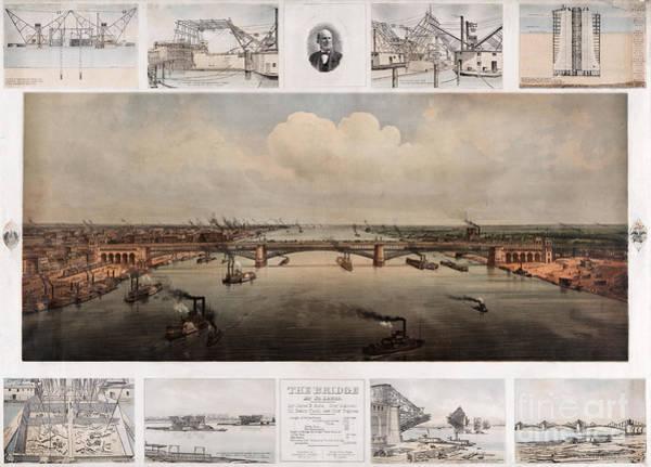 Painting - St Louis Bridge by Celestial Images