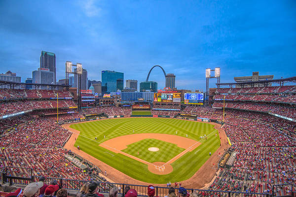 Photograph - St. Louis Cardinals Busch Stadium Creative Blue by David Haskett II