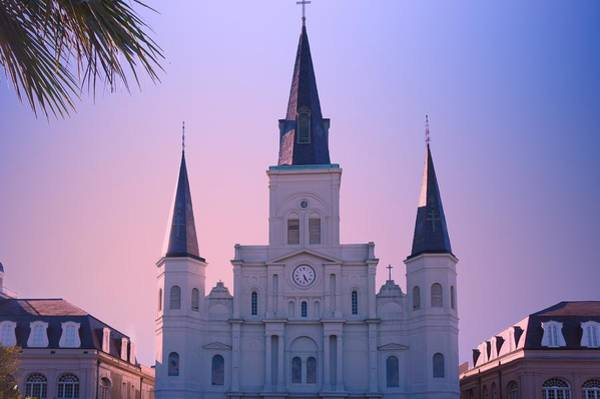 Wall Art - Photograph - St Louis Cathedral Church At Sunrise by Art Spectrum
