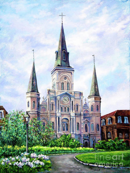 City Cafe Wall Art - Painting - St. Louis Cathedral by Dianne Parks