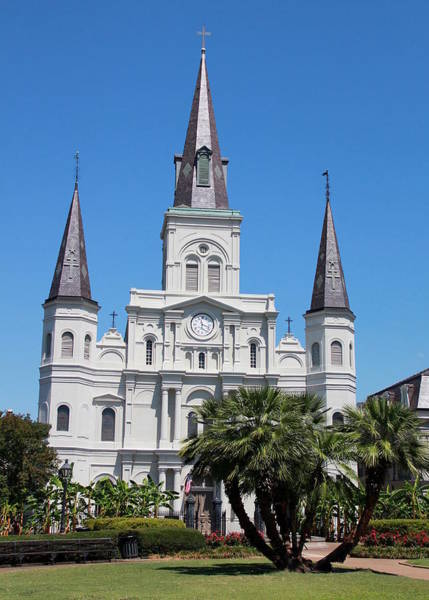 Photograph - St. Louis Cathedral Front by Debi Dalio