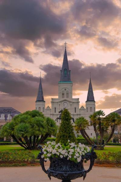 Wall Art - Photograph - St Louis Cathedral, Jackson Square, New Orleans, Louisiana by Art Spectrum