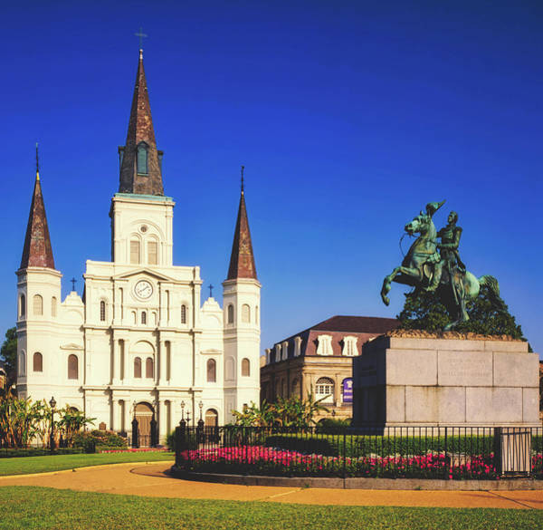 Wall Art - Photograph - St. Louis Catheral And Jackson Square - New Orleans by Library Of Congress