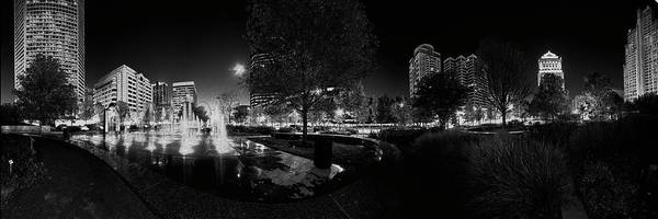 Photograph - St. Louis City Garden Night Bw by David Coblitz