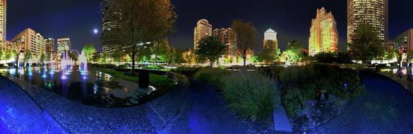 Photograph - St. Louis City Garden Night Panorama by David Coblitz