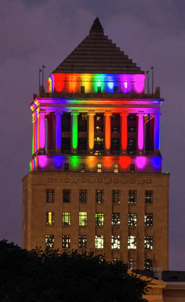 Lgbt Photograph - St Louis Courthouse Displaying Lgbt Colors by Garry McMichael