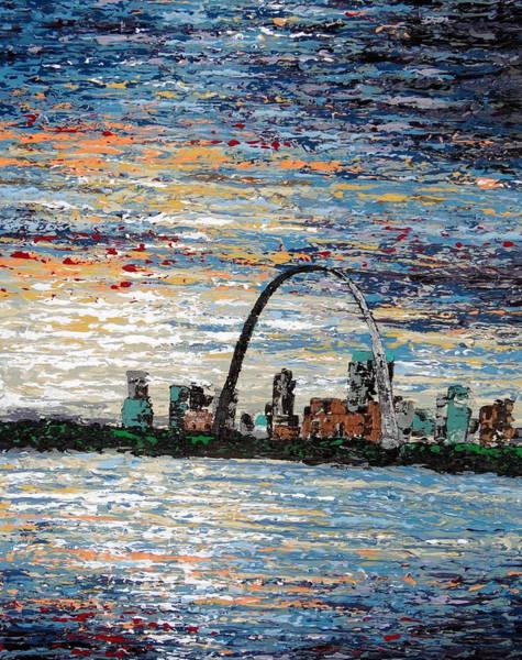 St Louis Arch Painting - St Louis by Daniela Pasqualini