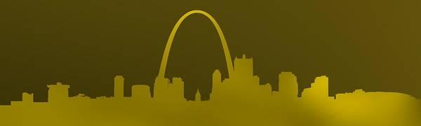 Digital Art - St. Louis. Horizontal Gold by Alberto RuiZ