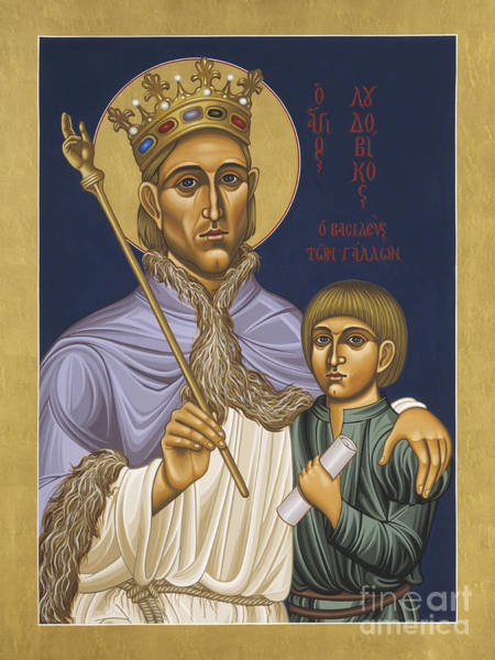 Painting - St Louis Ix With His Son Philip IIl 046 by William Hart McNichols