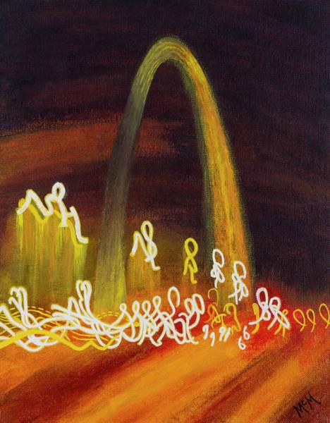St Louis Arch Painting - St Louis Nocturne by Garry McMichael