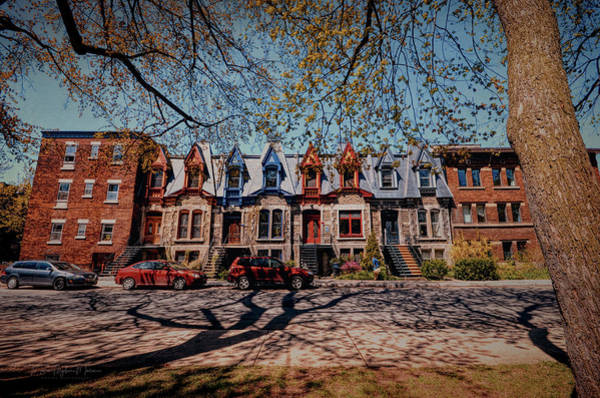 Montreal Neighborhoods Wall Art - Photograph - St. Louis Row Houses - Montreal by Maria Angelica Maira