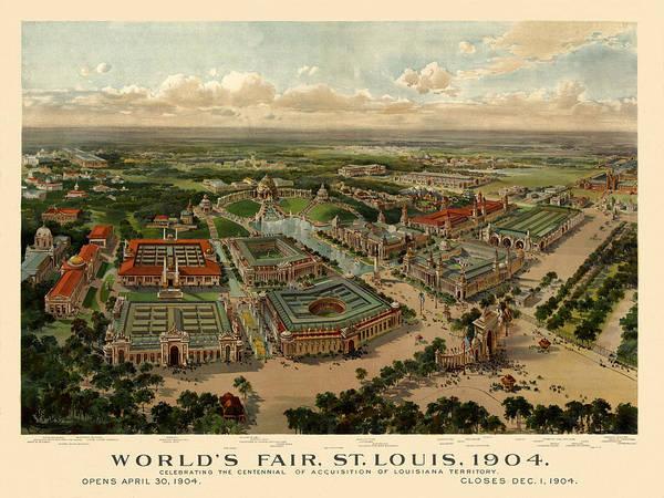 St. Louis Worlds Fair 1904 Art Print