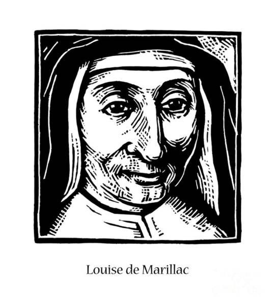 Painting - St. Louise De Marillac - Jllom by Julie Lonneman