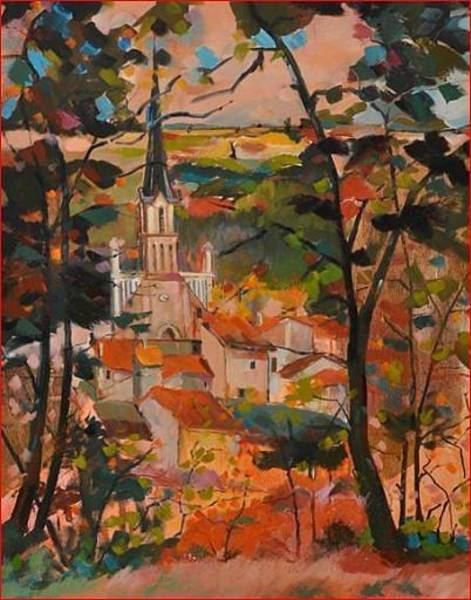 Wall Art - Painting - St Loup Sur Thouet 79600 by Kim PARDON