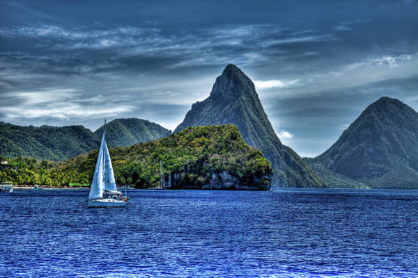 St. Lucia Photograph - St Lucia View Of Pitons  by John Supan