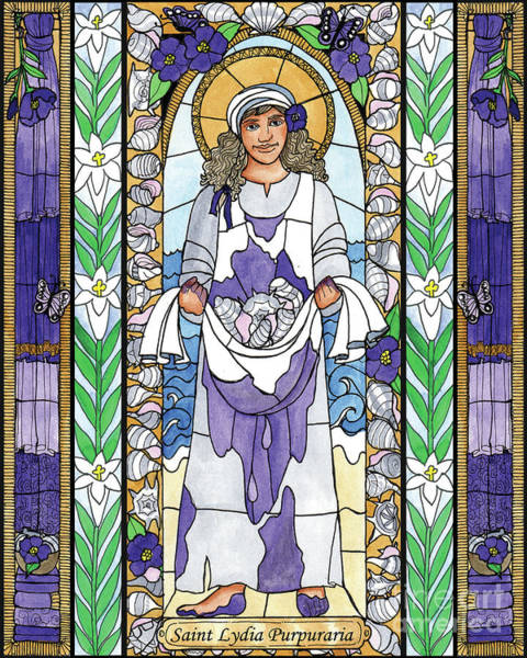 Painting - St. Lydia Purpuraria by Brenda Nippert