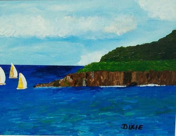 Wall Art - Painting - St. Maarten Harbor by Dixie Lee Hedrington