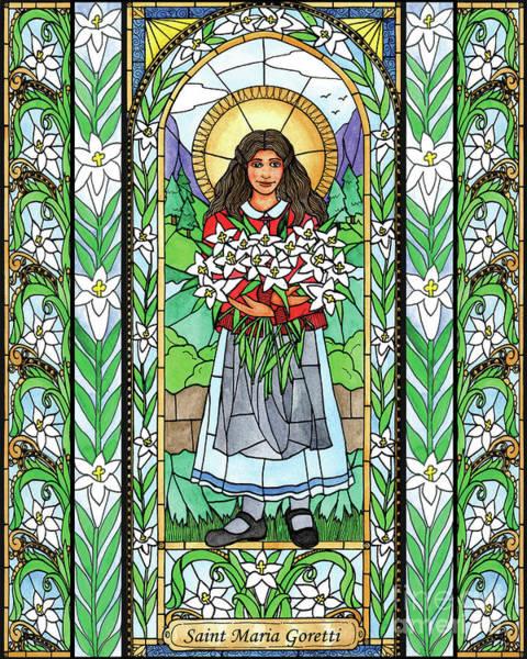 Painting - St. Maria Goretti by Brenda Nippert