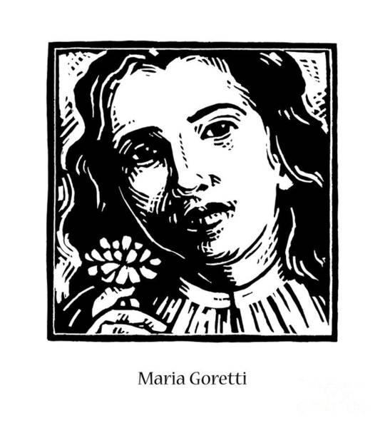Painting - St. Maria Goretti - Jlgor by Julie Lonneman