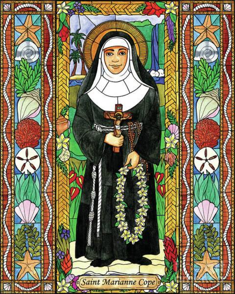 Painting - St. Marianne Cope by Brenda Nippert