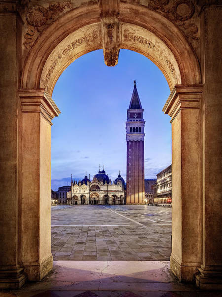 Photograph - St Mark's Square Arch - Venice by Barry O Carroll
