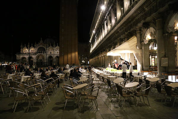 Photograph - St. Marks Square Venice 1 by Andrew Fare