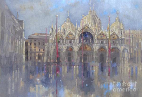 Dome Painting - St Mark's -venice by Peter Miller