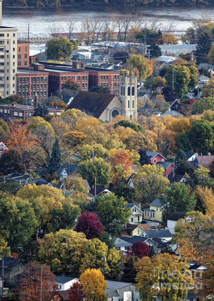 Photograph - St Martins And Watkins From Garvin Heights Winona Minnesota by Kari Yearous