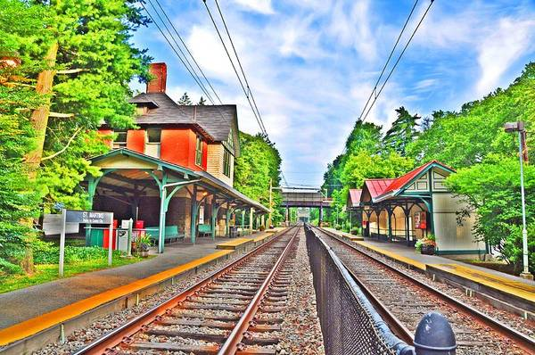 Chestnut Hill Photograph - St. Martins Train Station by Bill Cannon