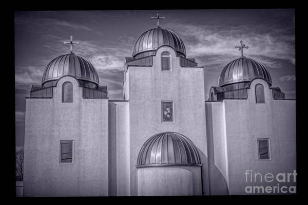 Photograph - St Mary And St Abram Coptic  St Louis Bw by Luther Fine Art